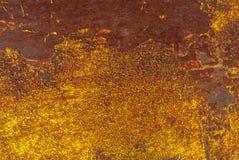 在铁表面背景的切削的油漆 免版税库存图片