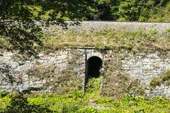 在铁路下的隧道 免版税库存图片