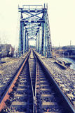 在铁路河的桥梁 库存照片