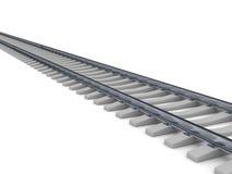 在铁路白色的背景 皇族释放例证