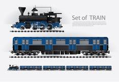 在铁路的货物火车 库存例证