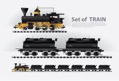 在铁路的货物火车 向量例证