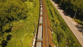 在铁路的货车 股票录像
