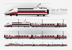 在铁路的高速火车 库存例证