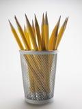 在铅笔持有人的铅笔 库存照片