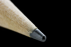 在铅笔浅技巧的黑色dof 免版税库存图片