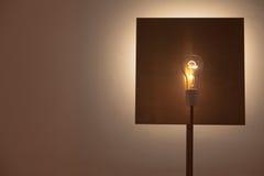 在铜的电灯泡 库存图片