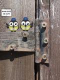在铰链栖息的建筑工人 库存照片