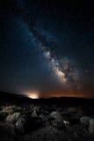 在银河下的死亡谷 库存图片