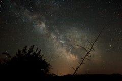 在银河的裂缝 免版税库存照片