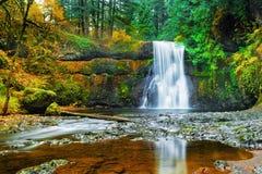 在银的上部北部秋天下跌国家公园 库存图片