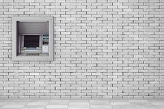 在银行现金ATM机器的修造 3d翻译 库存图片