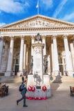 在银行连接点的皇家交换在伦敦,英国 免版税库存图片