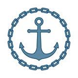 在链子框架的船锚  库存例证