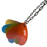 在链子, 3D的心脏 库存图片