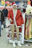 在销售中的圣诞老人服装 库存照片
