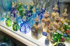 在销售中的Murano玻璃在威尼斯,意大利 免版税库存图片