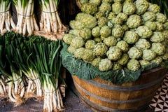 在销售额中的蔬菜 免版税库存图片