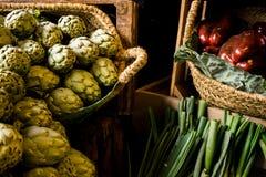 在销售额中的蔬菜 免版税库存照片