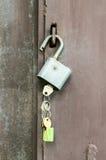 在锁定的关键字 库存照片