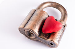 在锁的心脏 库存图片