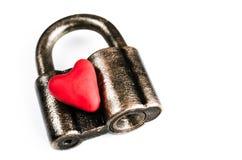 在锁的心脏 免版税图库摄影