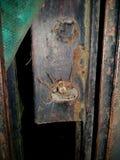 在锁的蜘蛛 库存图片