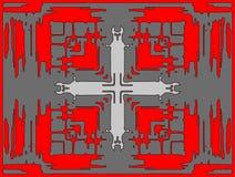 在错觉的十字架 皇族释放例证