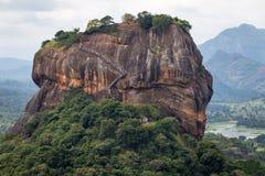 在锡吉里耶岩石的接近的射击 免版税库存照片