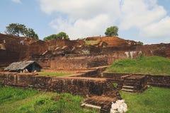 在锡吉里耶岩石顶部的Rockfortress,斯里兰卡 库存照片