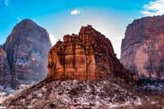 在锡安国家公园的小山 免版税库存照片