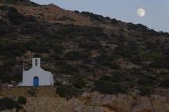 在锡弗诺斯岛海岛上的教会 库存照片