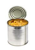 在锡的玉米 免版税库存照片