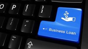 在键盘按钮的工商业贷款移动的行动 影视素材