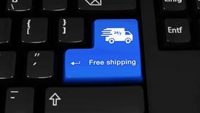 465 在键盘按钮的自由运输自转行动 库存例证