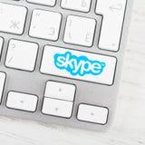 在键盘按钮的Skype略写法 免版税库存照片