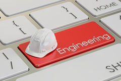 在键盘按钮, 3D的工程学概念翻译 皇族释放例证