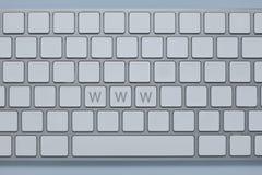 在键盘的万维网a上写字有其他的锁上删除 免版税库存图片