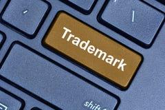 在键盘的商标词 免版税库存照片