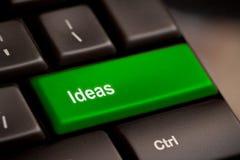在键盘的想法词 免版税图库摄影