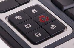 在键盘的按钮-回收 库存图片