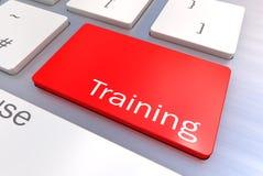 在键盘的消息输入键,训练概念的 免版税库存图片