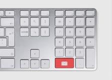 在键盘的电子邮件概念 免版税图库摄影