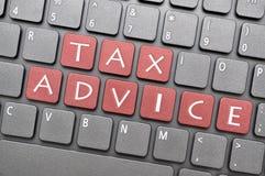 在键盘的税忠告 库存例证