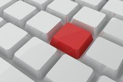 在键盘的红色钥匙 免版税图库摄影