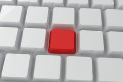 在键盘的红色钥匙 库存照片