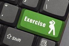 在键盘的锻炼钥匙 免版税库存图片