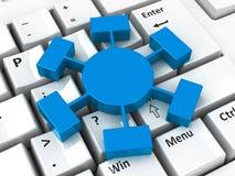 在键盘的Webinar象 免版税库存图片