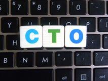 在键盘背景的简称CTO 库存照片