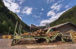在锯木厂 库存图片